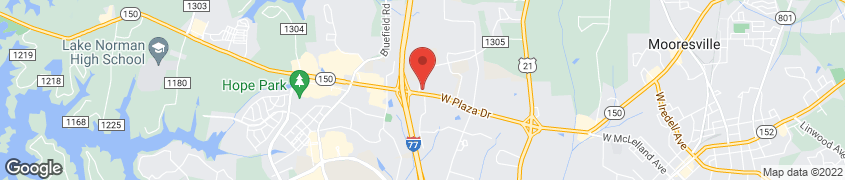 Map of 378 West Plaza Drive in Mooresville