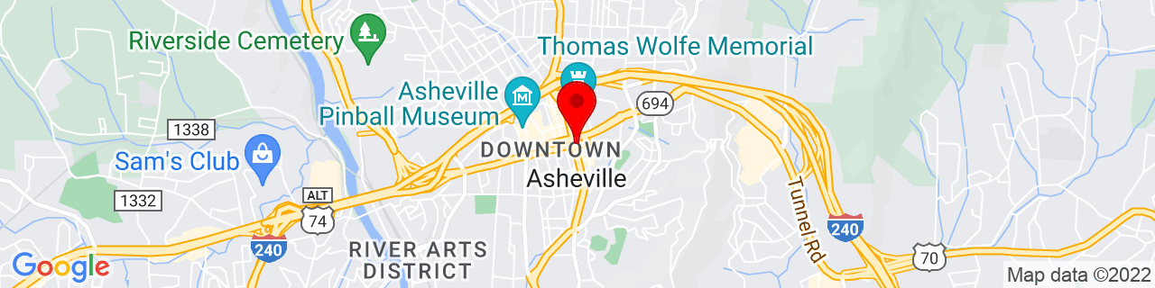 Google Map of 35.5950581, -82.5514869