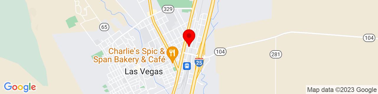 Google Map of 35.5979746, -105.2120792