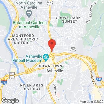 Map of Staples at 65 Merrimon Avenue, Asheville, NC 28801
