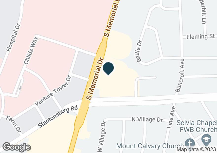 Google Map of671 S MEMORIAL DR
