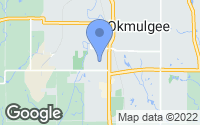 Map of Okmulgee, OK