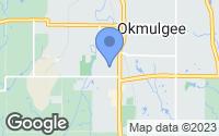 Map of Okmulgee, OK
