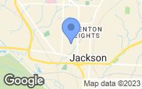 Map of Jackson, TN