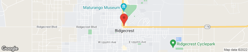 Mapa de 104 China Lake Blvd en Ridgecrest