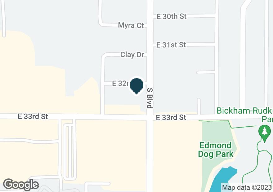 Google Map of185 E 33RD ST