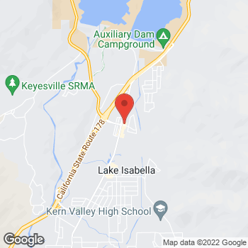 Map of Taco Bell at 6300 Lake Isabella Blvd, Lake Isabella, CA 93240