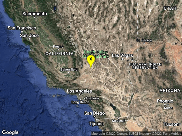 earthquake 15km S of Searles Valley, CA