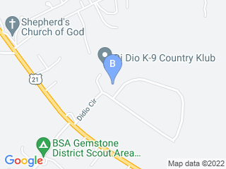Map of DiDio K-9 Country Klub Dog Boarding options in Mooresville | Boarding