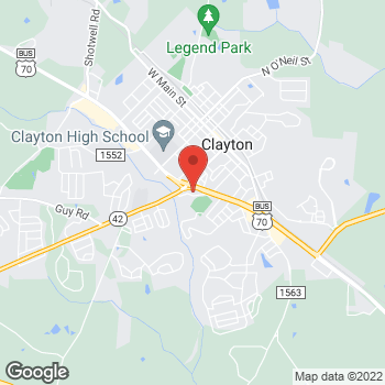 Map of State Employees' Credit Union at 512 Regency Dr, Clayton, NC 27520