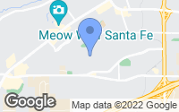 Map of Santa Fe, NM