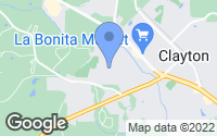 Map of Clayton, NC