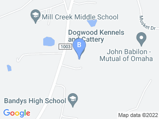 Map of Dogwood Kennels and Cattery Dog Boarding options in Catawba | Boarding