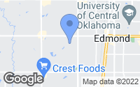 Map of Edmond, OK