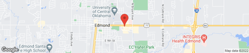 Map of 1100 E 2nd St in Edmond