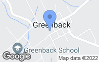 Map of Greenback, TN