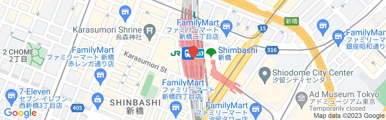 JR Shimbashi Station Karasumori Exit