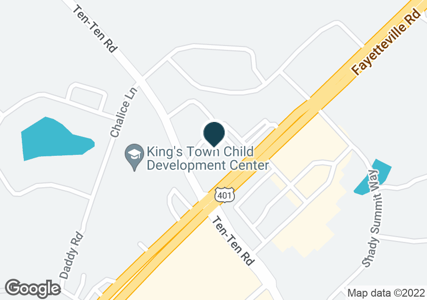 Google Map of7950 FAYETTEVILLE RD
