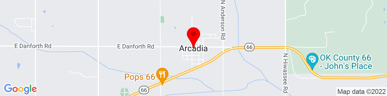Google Map of 35.6667233, -97.3267025