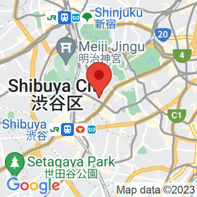 Map showing Sarutahiko Coffee Omotesandō