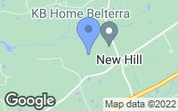 Map of New Hill, NC