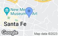 Map of Santa Fe, NM