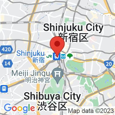 Map showing Sarutahiko Coffee and Tiki Taka Ice Cream