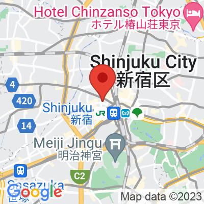 Map showing PAUL BASSETT Shinjuku