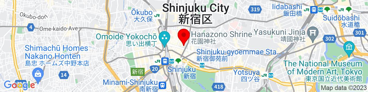 Google Map of 35.69328333333333, 139.70534444444442