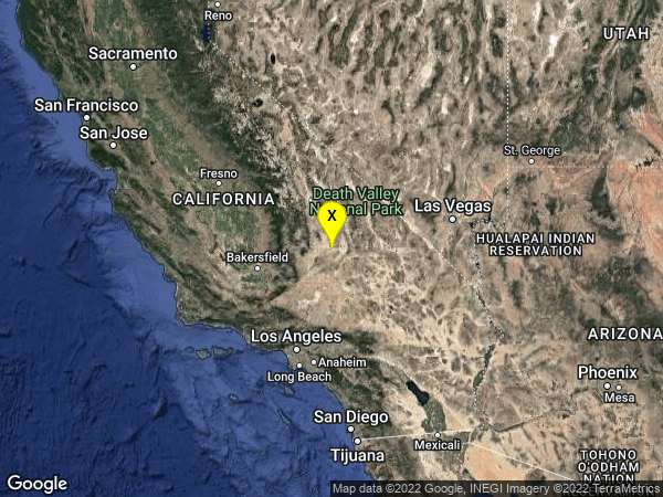 earthquake 15km WSW of Searles Valley, CA
