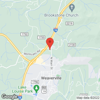 Map of State Employees' Credit Union at 8 Monticello Rd, Weaverville, NC 28787