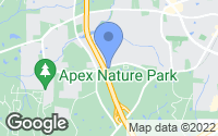 Map of Apex, NC