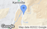 Map of Kernville, CA