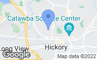 Map of Hickory, NC