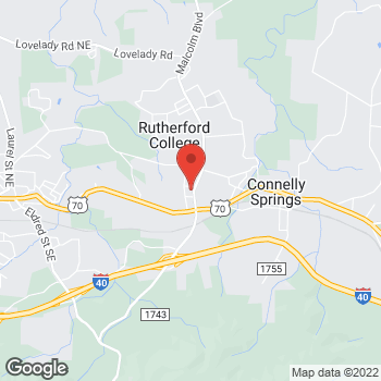 Map of State Employees' Credit Union at 411 Malcolm Blvd, Connelly Springs, NC 28612
