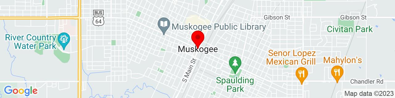 Google Map of 35.7478769, -95.3696909
