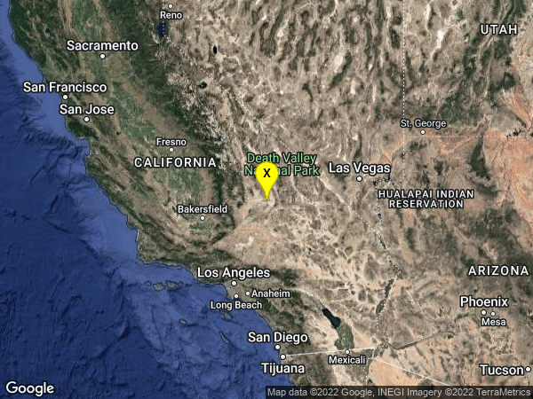 earthquake 4km SW of Searles Valley, CA