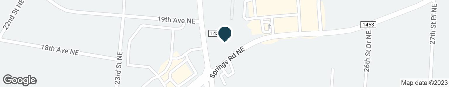Google Map of2427 SPRINGS RD NE