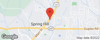 Map of 5226 Main St in Spring Hill