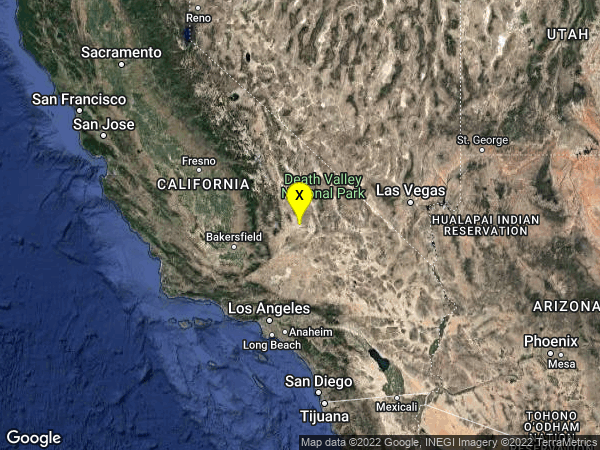 earthquake 16km W of Searles Valley, CA