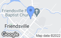 Map of Friendsville, TN