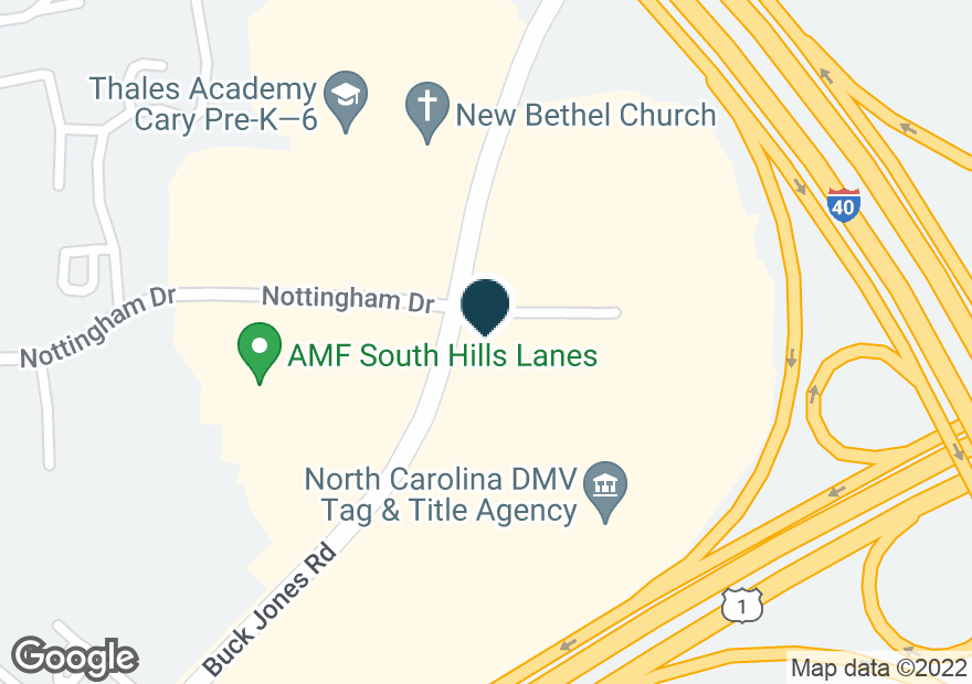 Google Map of1219 BUCK JONES RD