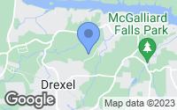 Map of Drexel, NC