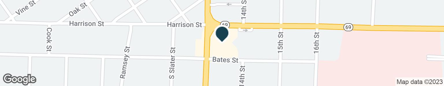 Google Map of1045 S SAINT LOUIS ST