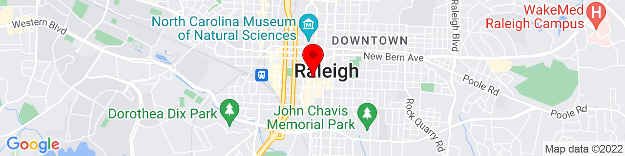 Google Map of 35.7768889, -78.6385293