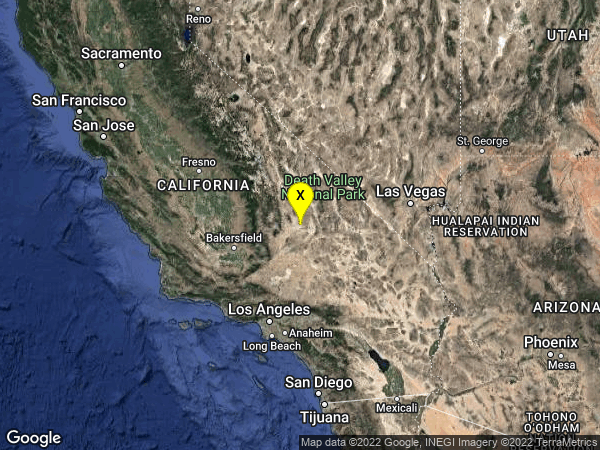 earthquake 15km W of Searles Valley, CA