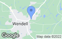 Map of Wendell, NC