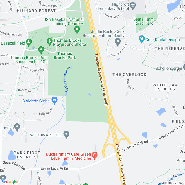 Map of Triangle Expressway