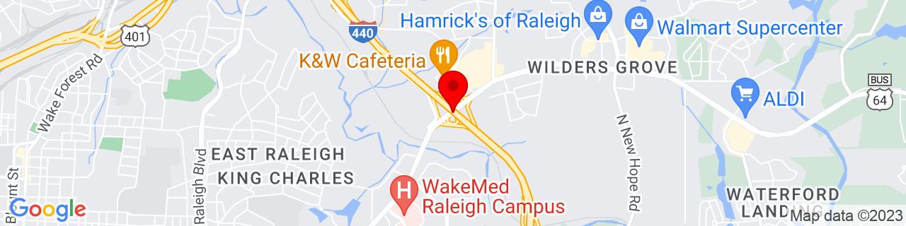 Google Map of 35.7943197, -78.5826584