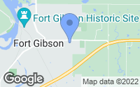 Map of Fort Gibson, OK
